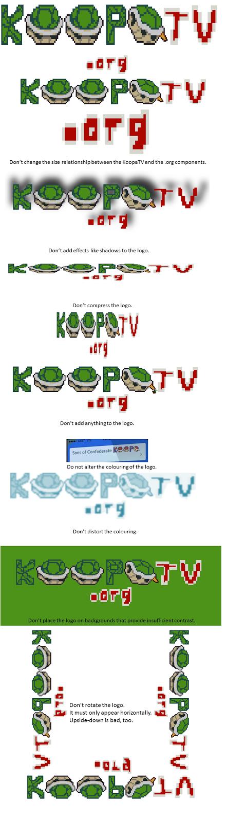 KoopaTV KoopaTV.org incorrect usage of logos examples
