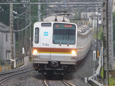 西武池袋線 有楽町線直通 快速 新木場行き1 東京メトロ7000系