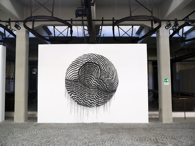 "Italian Street Artist 2501 For ""Short Theatres"" At The Museum Of Contemporary Art Of Rome. 6"
