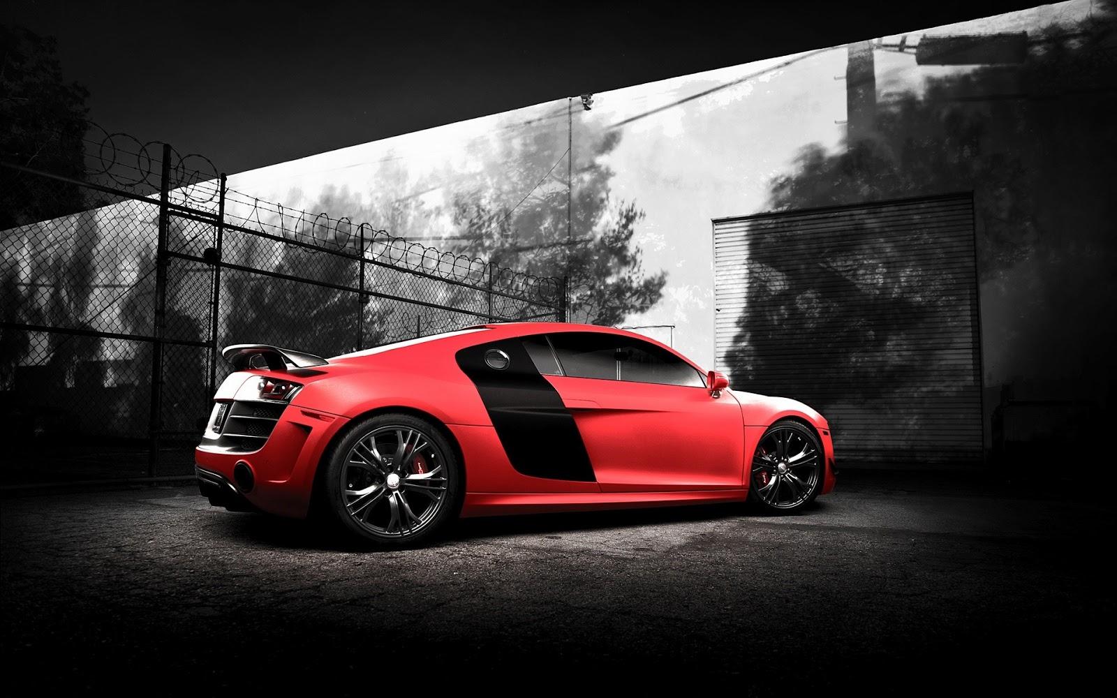 Descargar Fondos De Pantalla 4k Audi R8 Costa De 2017: Fondo De Pantalla Coche Audi Rojo