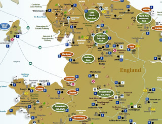 interactive travel tourist map ENGLAND & WALES