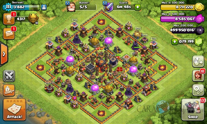 Desain Base Trophy Clash Of Clans Town Hall 10 Update 2017 ...