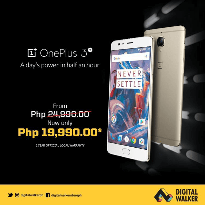 Sale Alert: OnePlus 3T Is Down To PHP 19990!