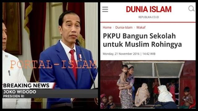 """Jokowi """"KLAIM"""" Pemerintah Telah Membangun Sekolah di Rakhine (Rohingya), Padahal Ternyata Itu PKPU"""