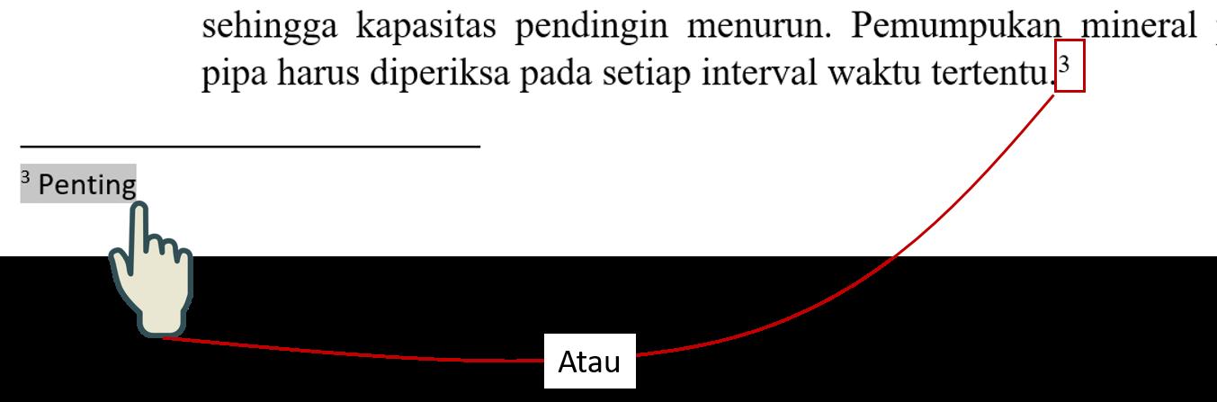 Mengganti Seluruh Tipe Endnotes ke Footnotes 1