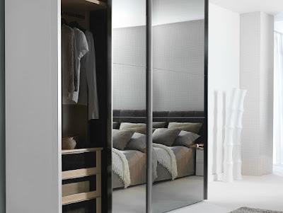 Closet y muebles de madera closet modernos con puertas for Puertas corredizas para closet