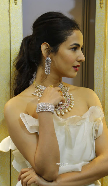 Sonal Chauhan Showcasing Grand Diamond Sets