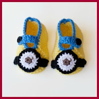 ZAPATITOS MINION CROCHET