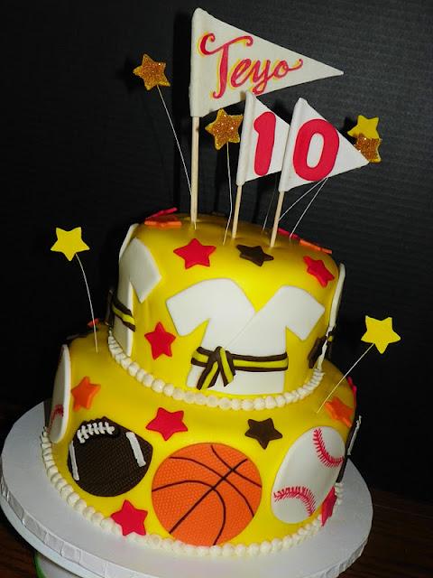 Plumeria Cake Studio Sports Ball And Tae Kwon Do Cake