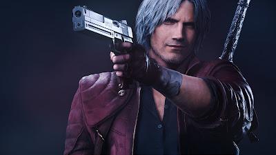 Dante adulto con pistola en mano