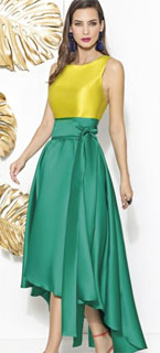 vestido de fiesta Cabotini asimetrico color block 2018