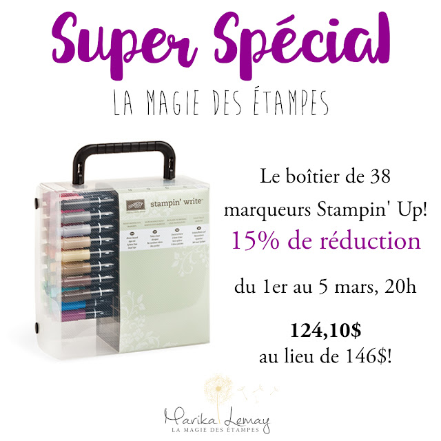 spécial marqueurs Stampin' Up!