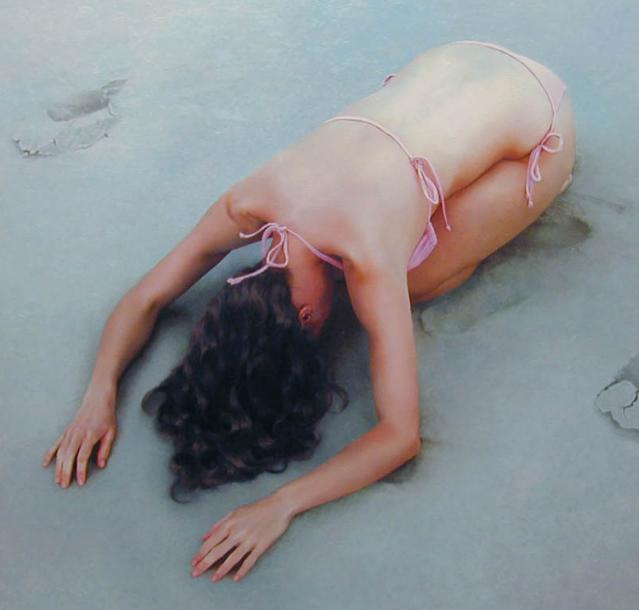 Nathalie Vogel 1975 | American Figurative painter | The liquid women