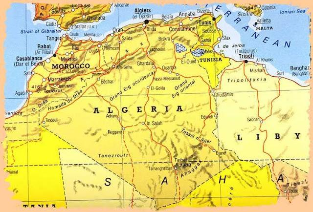 خريطة الجزائر Algeria Map