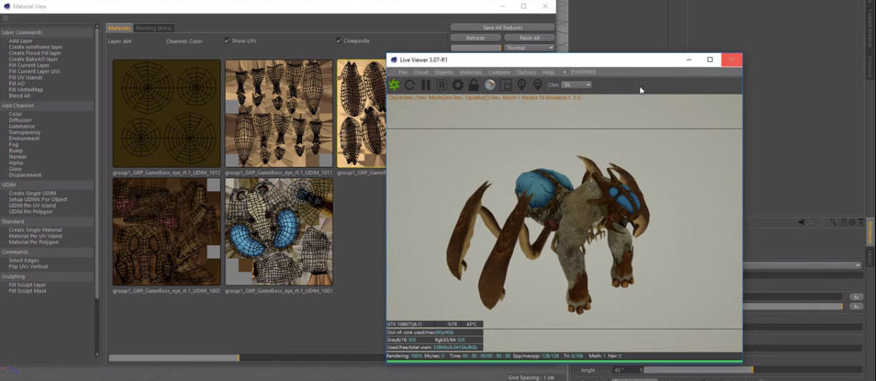 Importing Textures from Mari to C4D into Octane with UDIMS | CG TUTORIAL