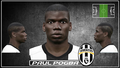 PES 2016 Paul Pogba new face & hair by Jonathan Facemaker
