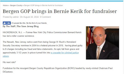 Hey GOP, What do you got to lose? Racist Sexist Pig Donald Trump and Felon on Probation Crook Bernard Kerik
