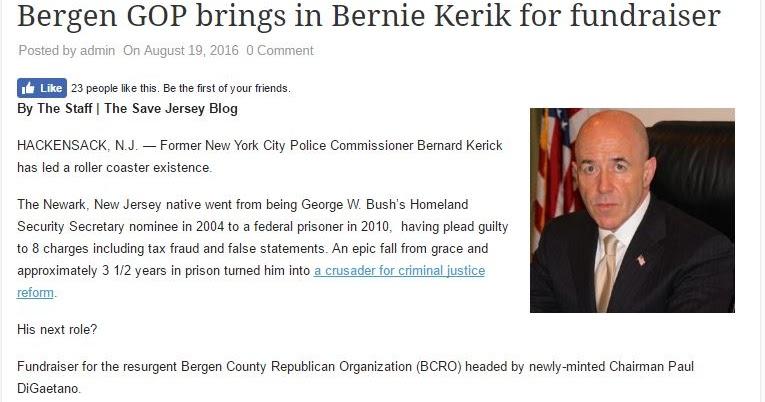 Hey GOP, What do you got to lose? Racist Sexist Pig Donald Trump and Felon on Probation Crook Bernard Kerik