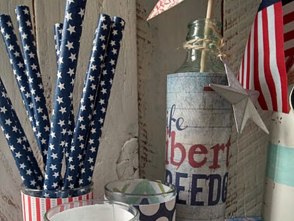 Patriotic Printable and Easy Jar Wraps