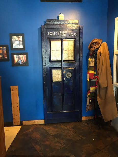 Tardis located inside Blue Box Cafe in Elgin, Illinois