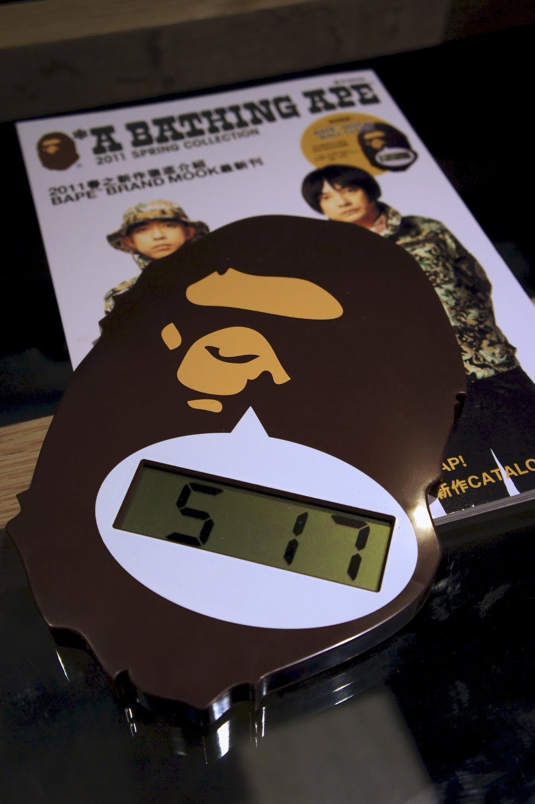 d6fa7bbe Their catalogues always come with a little present – this time I got a  Digital BAPE® Wall clock from A Bathing Ape 2011 spring collection  catalogue.