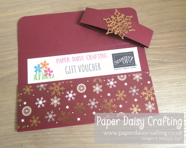Stampin Up Gift Voucher wallet