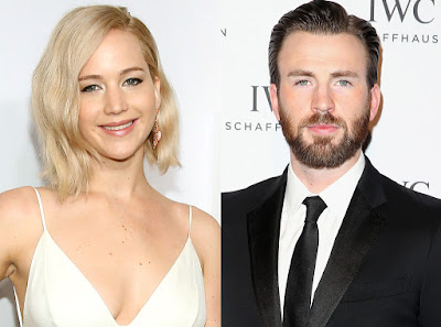 Jennifer Lawrence And Chris Evans
