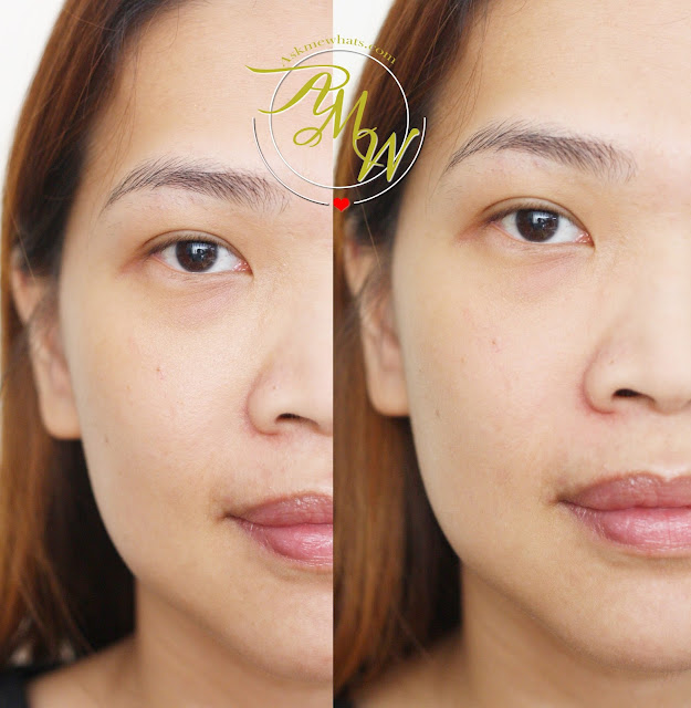 before and after photo of Dearberry Magic Oil Control Primer