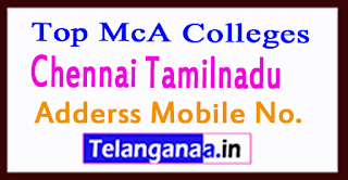 Top MCA Colleges in Chennai Tamilnadu