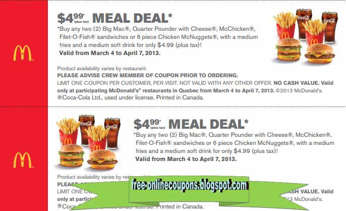 mcdonalds coupons november