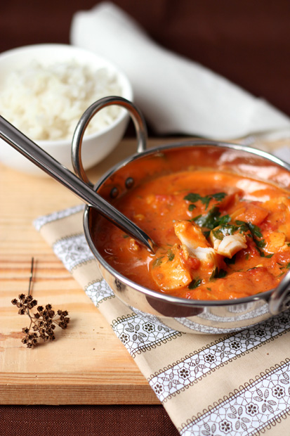 czerwone curry z rybą