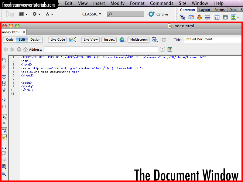 Free Dreamweaver Tutorials: Adding and Formatting Text