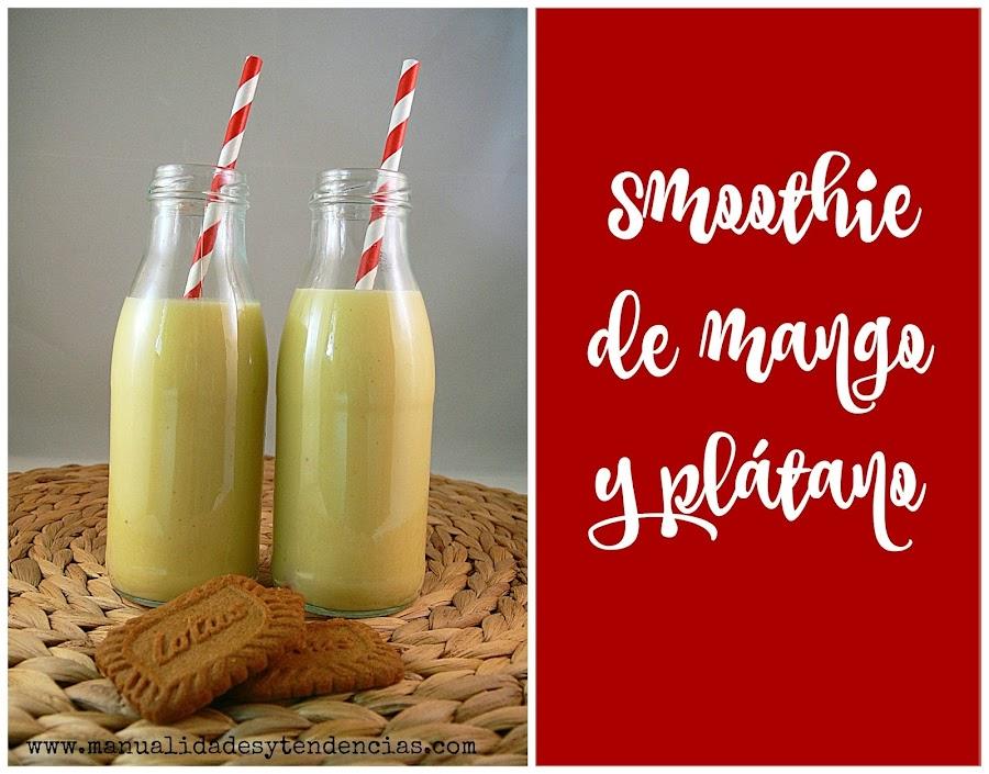 Receta de batido de mango, plátano y leche fermentada