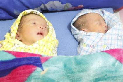 Bayi Kembar Identik Itu Dinamai Dengan Nama Capres Cawapres