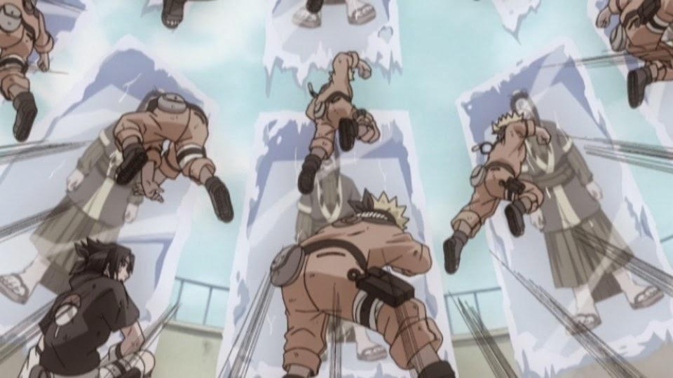 Naruto y Sasuke vs Haku