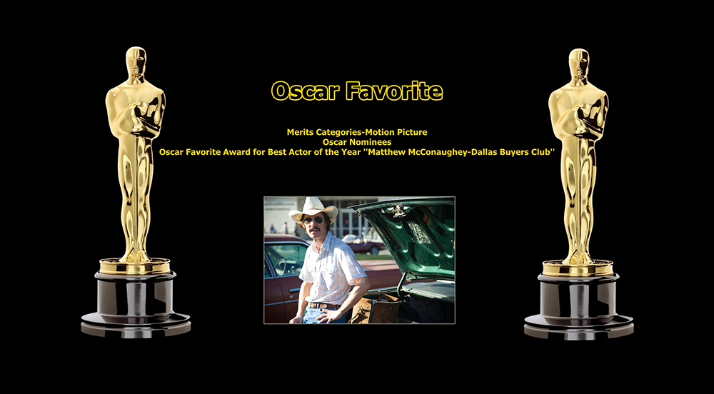 oscar favorite best actor award matthew mcconaughey dallas buyers club