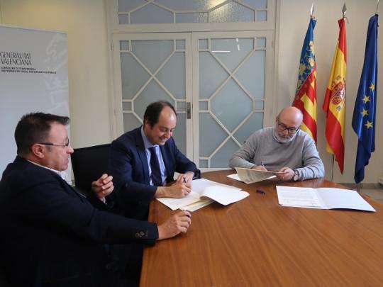 Transparencia firma el convenio de colaboración con la Asociación de Juristas Valencianos para el fomento y la recuperación del Derecho Civil foral autonómico