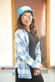 Tejaswi Madivada Stills in Balck Long Dress at Babu Baga Busy Movie Interview
