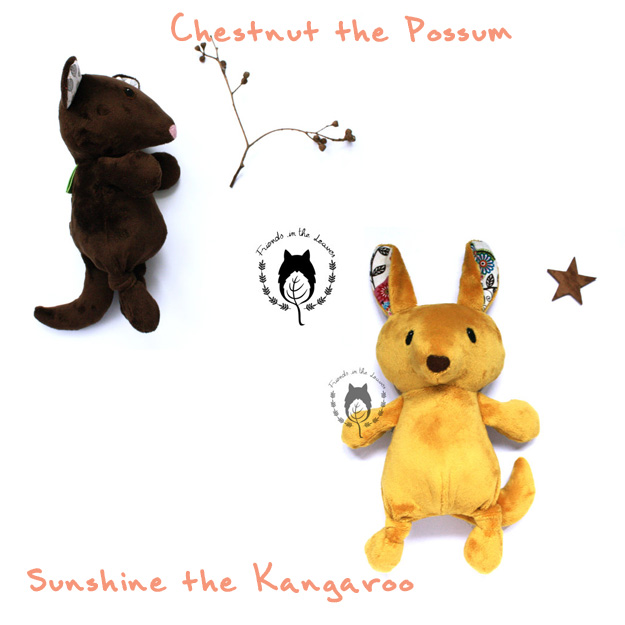possum kangaroo soft toys