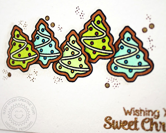 Sunny Studio Stamps: Christmas Icons & Blissful Baking Tree Cookie Card by Vanessa Menhorn.