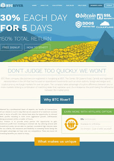 Btcriver 30% profit each Day