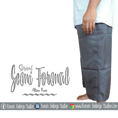 Celana Cingkrang Semi woll Abu Tua