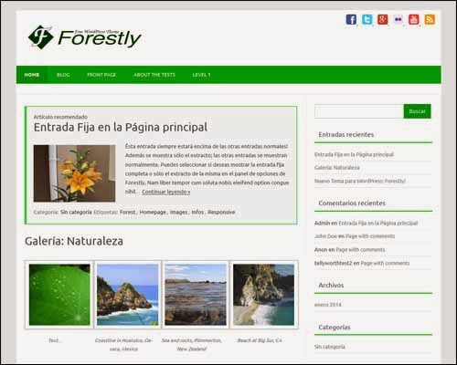 Forestly Free WordPress Theme