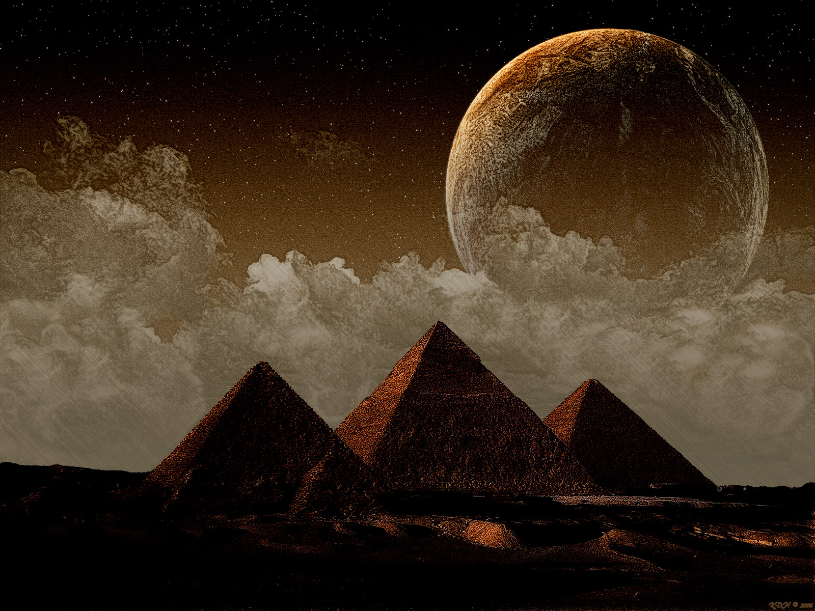 pyramids on different planets - photo #10