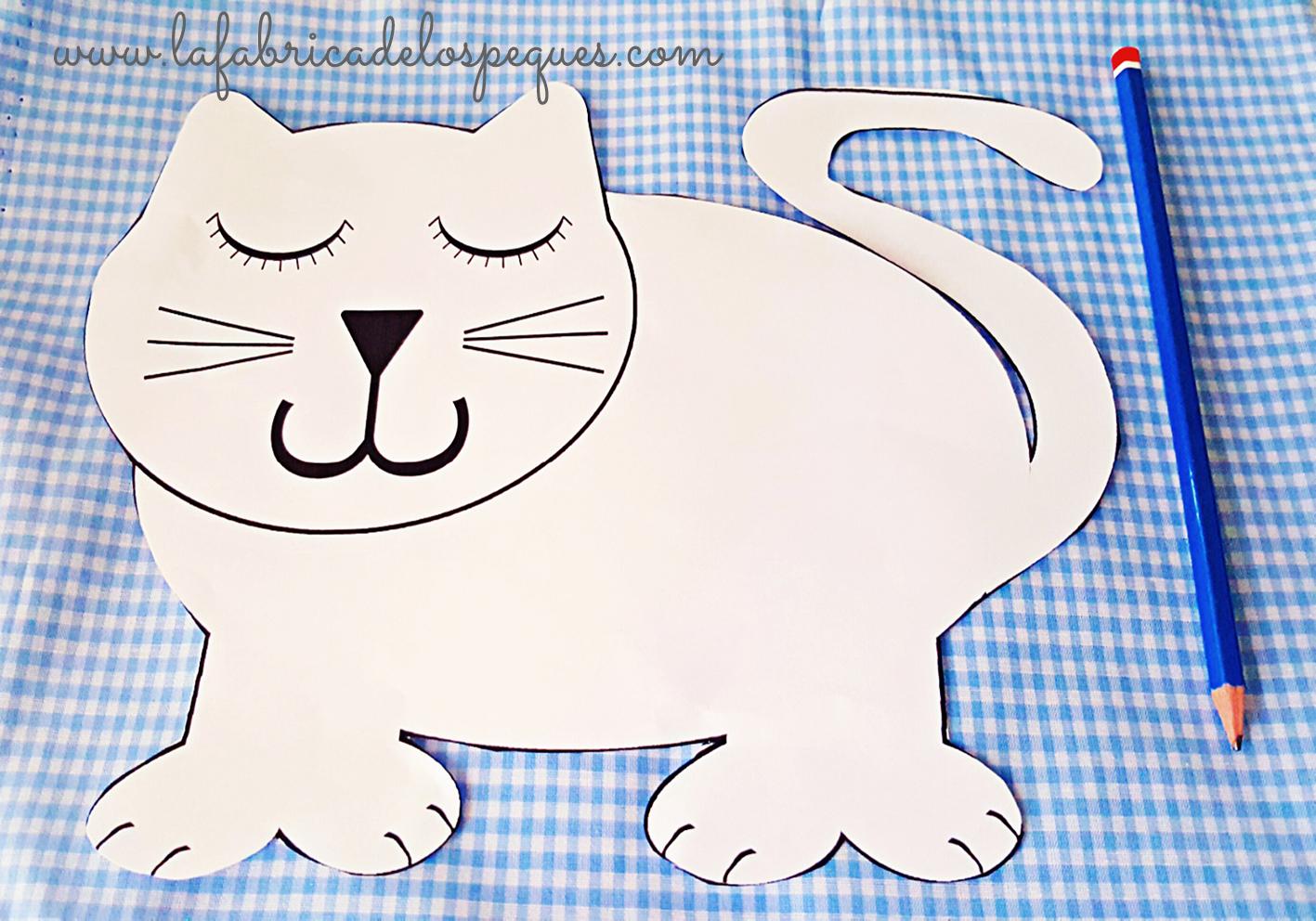 Cojín dormilón con forma de gato - La fábrica de los peques