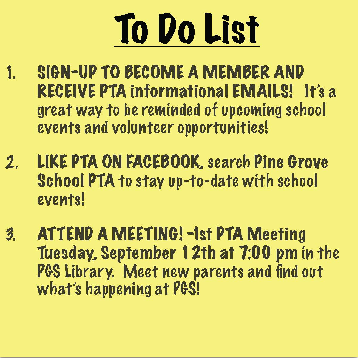 Pine Grove School PTA