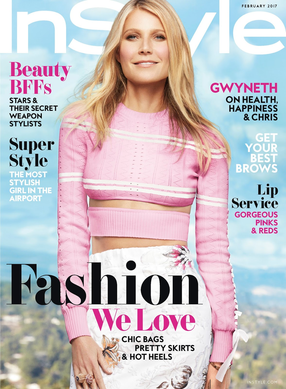 Gwyneth Paltrow On The February 2017 Cover Of Instyle Magazine
