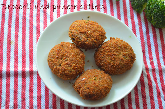 BROCCOLI AND PANEER CUTLETS