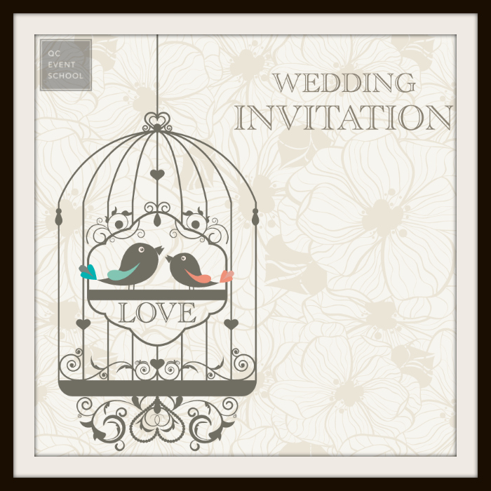 QC Event School Wedding Invitation