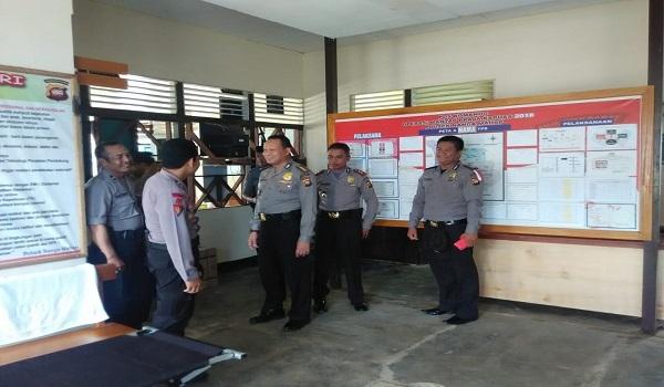 Perwira Pamatwil Polda Kalbar Kunjungi Polsek Nanga Mahap